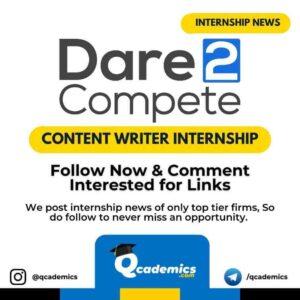 D2C Internship News: Content Writing