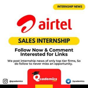 Internship at Airtel: Sales Internship