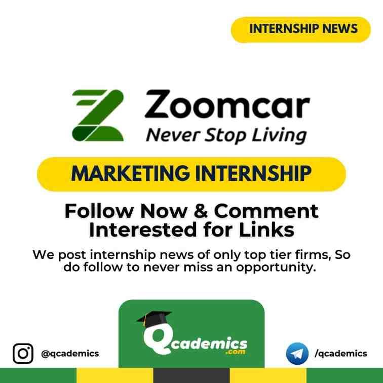 Zoomcar Internship News: Marketing Internship