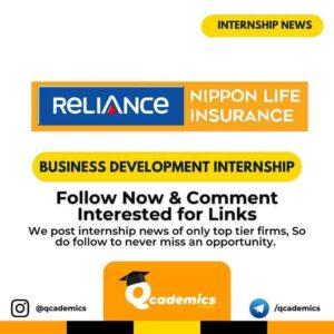 Reliance Internship News: Business Development