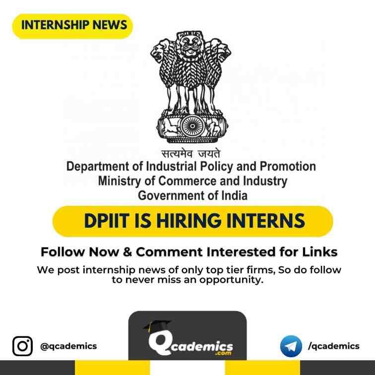 DPIIT Internship Scheme: Intern