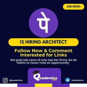 Job in PhonePe: Architect Job News