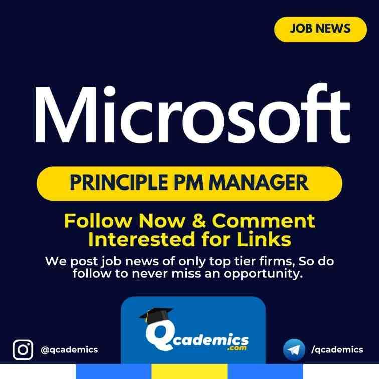 Job in Microsoft: Principal PM Manager