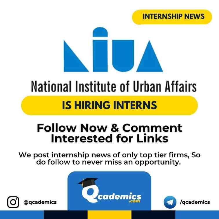 Read more about the article NIUA Internship: Human Resource Internship