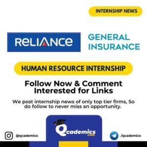 Internship at Reliance: Human Resource