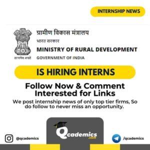 Internship in Ministry of Rural Development