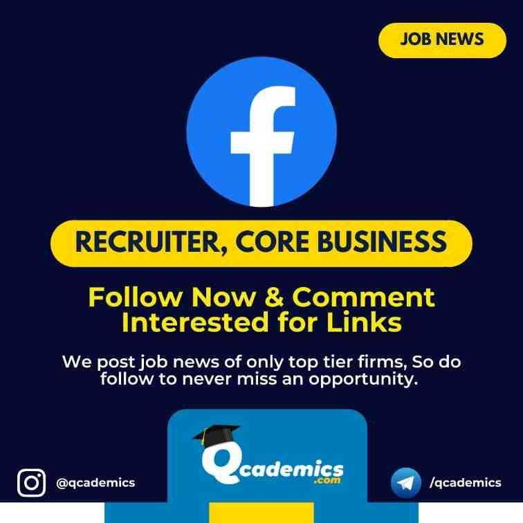 Job with Facebook: Recruiter Job News
