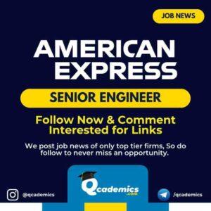 Job in American Express: Senior Engineer