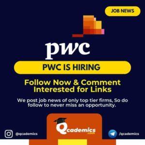 Job in PwC: Senior Associate Job News