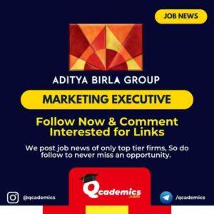 Aditya Birla Group Job: Marketing Executive