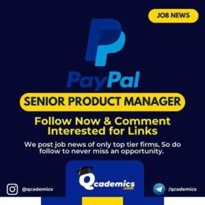 Job at PayPal: Senior Product Manager
