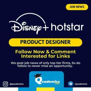 Hotstar Job News: Product Designer Job