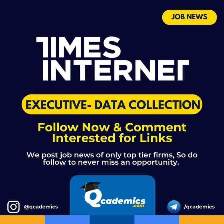 Times Internet Job News: Executive Job