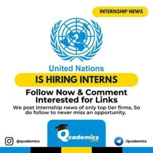 Internship at United Nations: Internship Opportunity