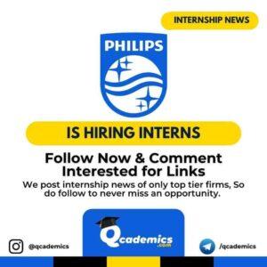 Internship at Philips: Internship News