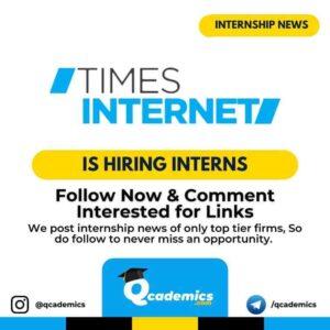 Internship at Times Internet: Search Engine Optimization
