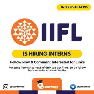 IIFL Internship News: Human Resource