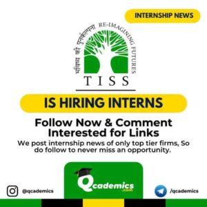 Internship at TISS: Internship Opportunity