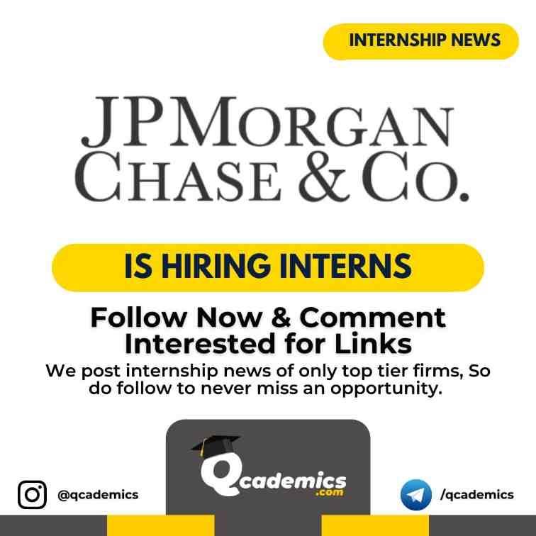 Read more about the article JPMorgan Internship: VET Intern