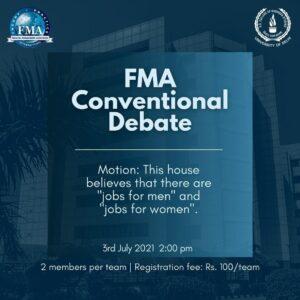 FMA Conventional Debate