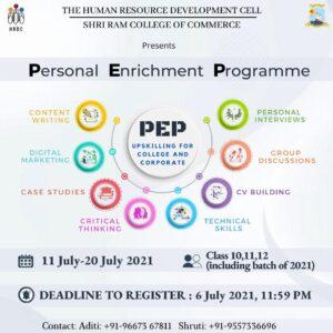 Personal Enrichment Programme by SRCC