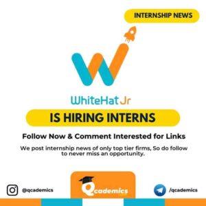 Internship at WhiteHat Jr: Business Development
