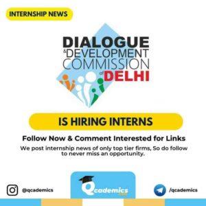Internship at DDC Delhi: Chief Minister's Urban Leaders Fellowship