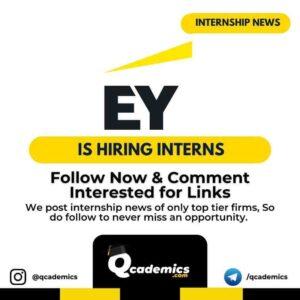 Internship at EY: Associate Consultant