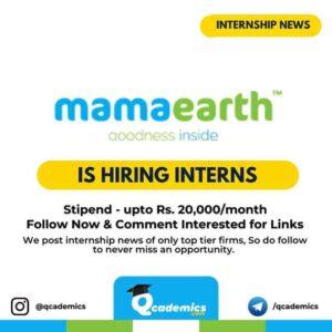 MamaEarth Internship: Human Resource