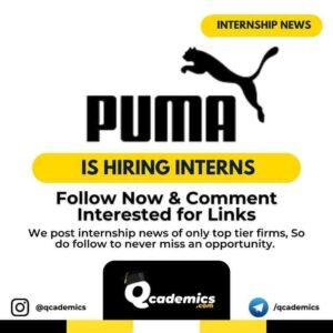 Puma Internship News: Creative Design
