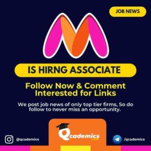Job in Myntra: Associate- Business Finance