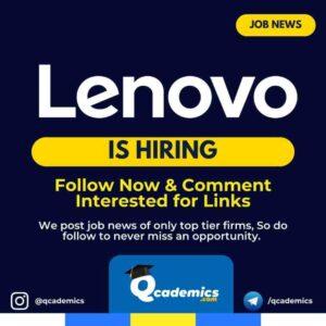 Job in Lenovo: Portfolio Manager Job