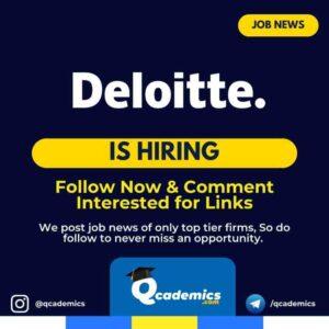 Job in Deloitte: Analyst- Data Analytics & Tableau