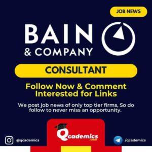 Job in Bain & Company: Consultant Job
