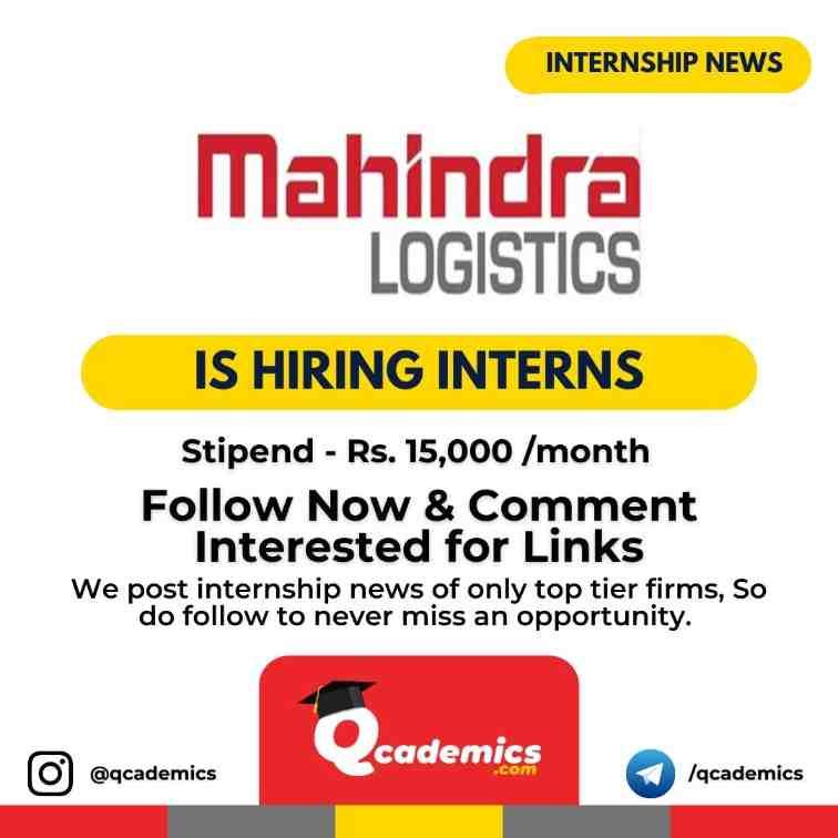 Read more about the article Mahindra Internship: Operations Internship
