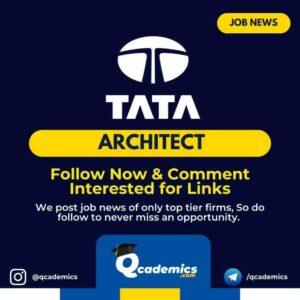 Job at TCS: Architect Job Opportunity