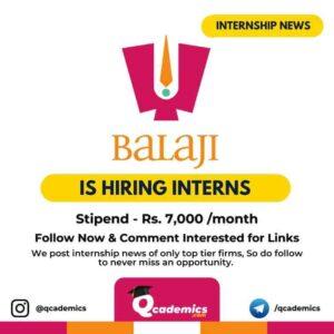 Internship at Balaji Telefilms: Human Resource