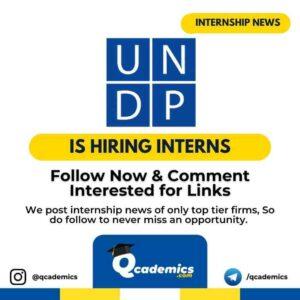 Internship at UNDP: Operations Internship