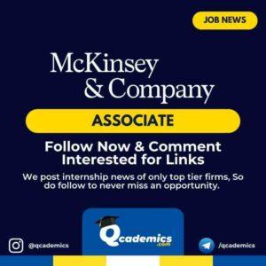 Job at McKinsey: Consulting Associate