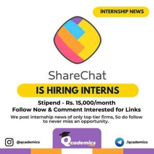 Internship at ShareChat: Content Writing