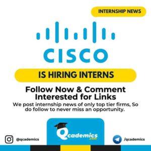 Cisco Internship: Business Analyst