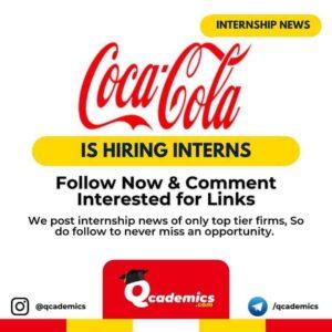Internship at Coca Cola: Human Resource