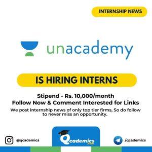 Internship at Unacademy: Finance