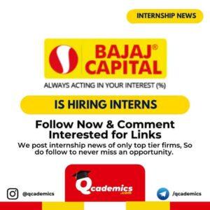 Internship at Bajaj Capital: Content Writing