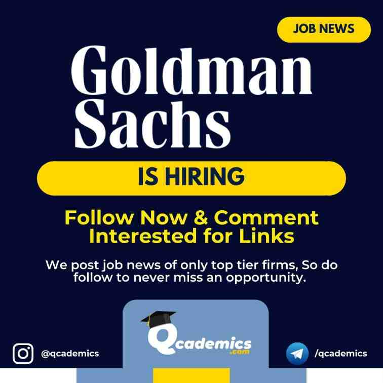 Read more about the article Job in Goldman Sachs: Quantitative Engineer