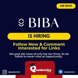 Job at BIBA: Area Sales Manager
