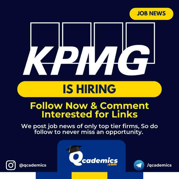 Read more about the article Job at KPMG: Associate Manager Job