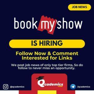 BookMyShow Job: Business Development Manager