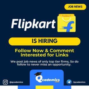 Job in Flipkart: Senior Analyst Job
