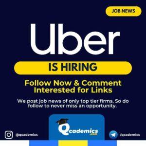 Job at Uber: Operations Manager Job